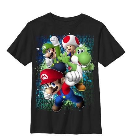 Nintendo Boys' Mario Friends Jump T-Shirt