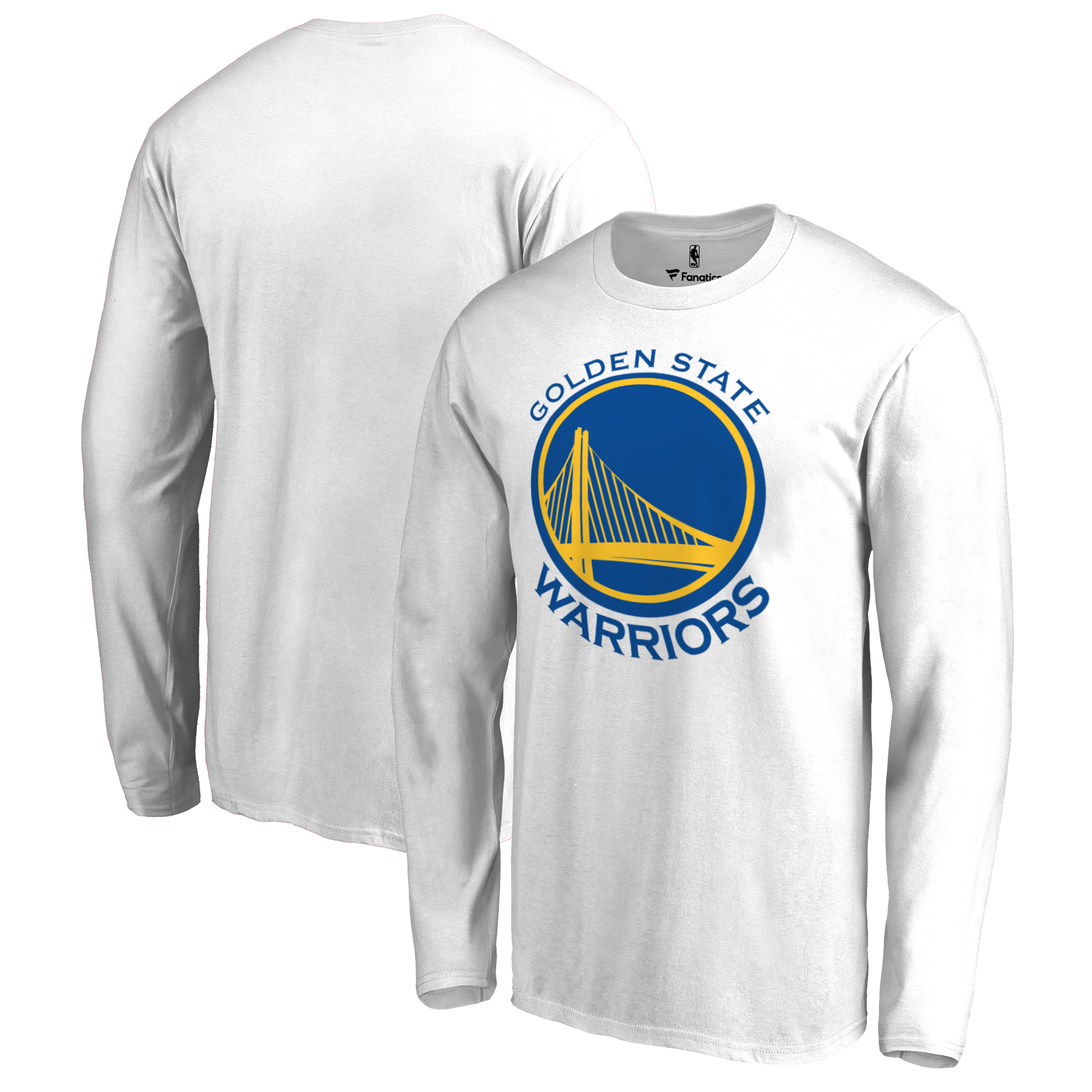 Golden State Warriors Fanatics Branded Big & Tall Team Primary Logo Long Sleeve T-Shirt - White