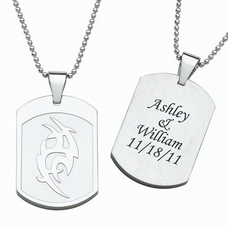 Personalized Stainless Steel Tribal Dog Tag Pendant