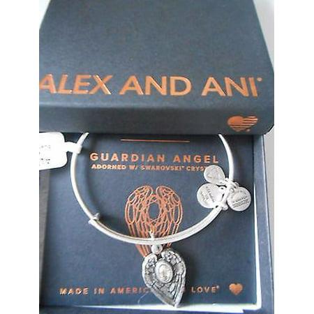 Alex And Ani   Path Of Symbols   Guardian Angel Expandable Wire Bangle Charm Bracelet