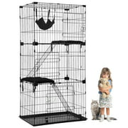 "Best Cat Cages - BestPet 3 Tier Cat Cage, Hammock, Black, 67""H Review"