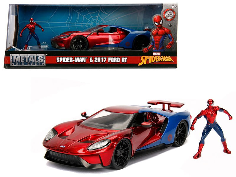 Hollywood Rides 1:24 Scale Marvel Spiderman Die Cast Vehicle with Figure by Jada Toys by Tegu