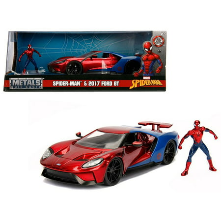 Hollywood Rides 1:24 Scale Marvel Spiderman Die Cast Vehicle with Figure by Jada Toys (Die Sol-runde Tasche)