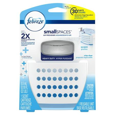 Febreze Small Spaces Air Freshener Heavy Duty Starter Kit, Crisp ...