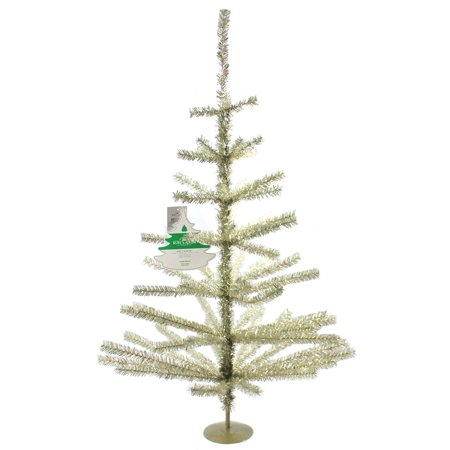 Kurt Adler 3-Foot Champagne Tinsel Tree