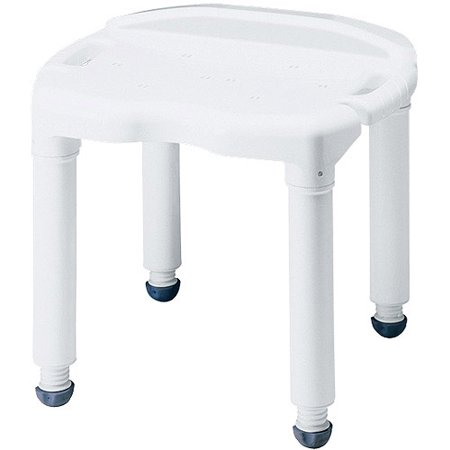 Carex Universal Bath Seat and Shower Chair - Adjustable Height Shower - Shower Valve Seats