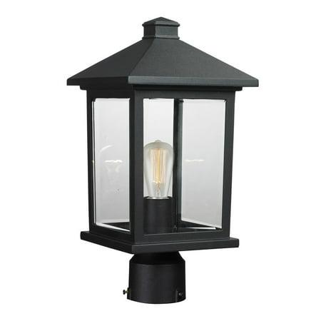 Outdoor Post 1 Light With Black Finish Aluminum Medium Base Bulb 8 inch 100 - Aluminum Post Base
