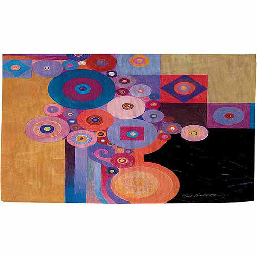 "Thumbprintz Peg and Spokes Gear Rug, 22.5"" x 37"""