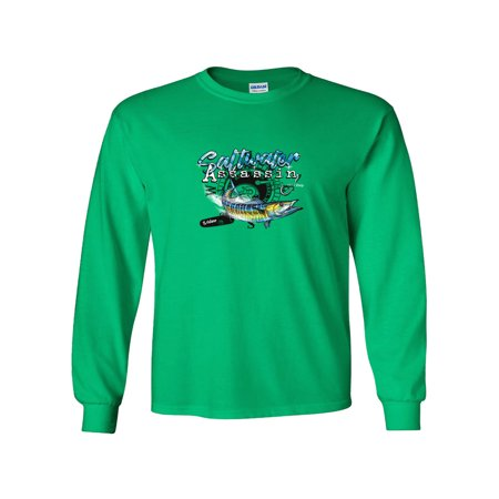 Wahoo Shorts - Wahoo Assassin Reel Fishing Long Sleeve T-Shirt