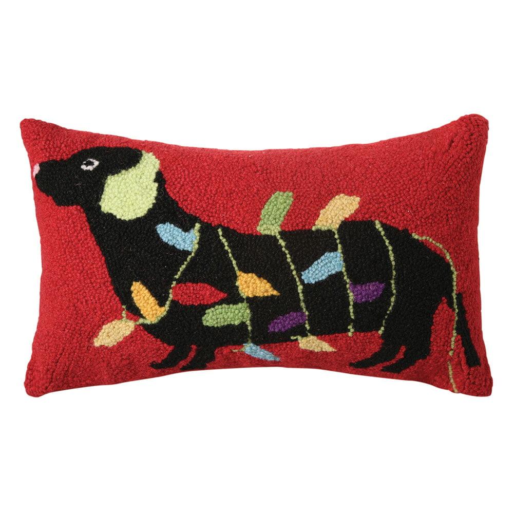 dachshund christmas pillows