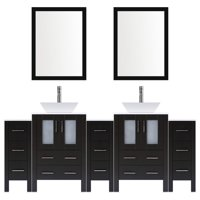 LessCare Modern 96'' Double Bathroom Vanity Set with Mirror