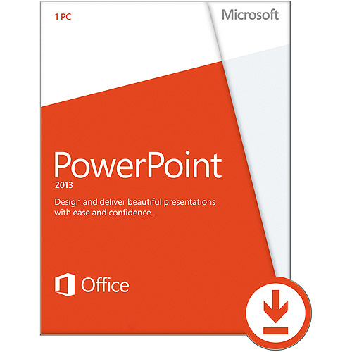 Microsoft Powerpoint 2013, 1 PC Download (Email Delivery)