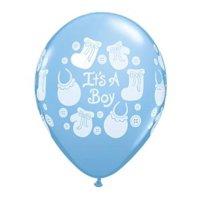 It's a Boy Buttons & Bows Qualatex Balloon