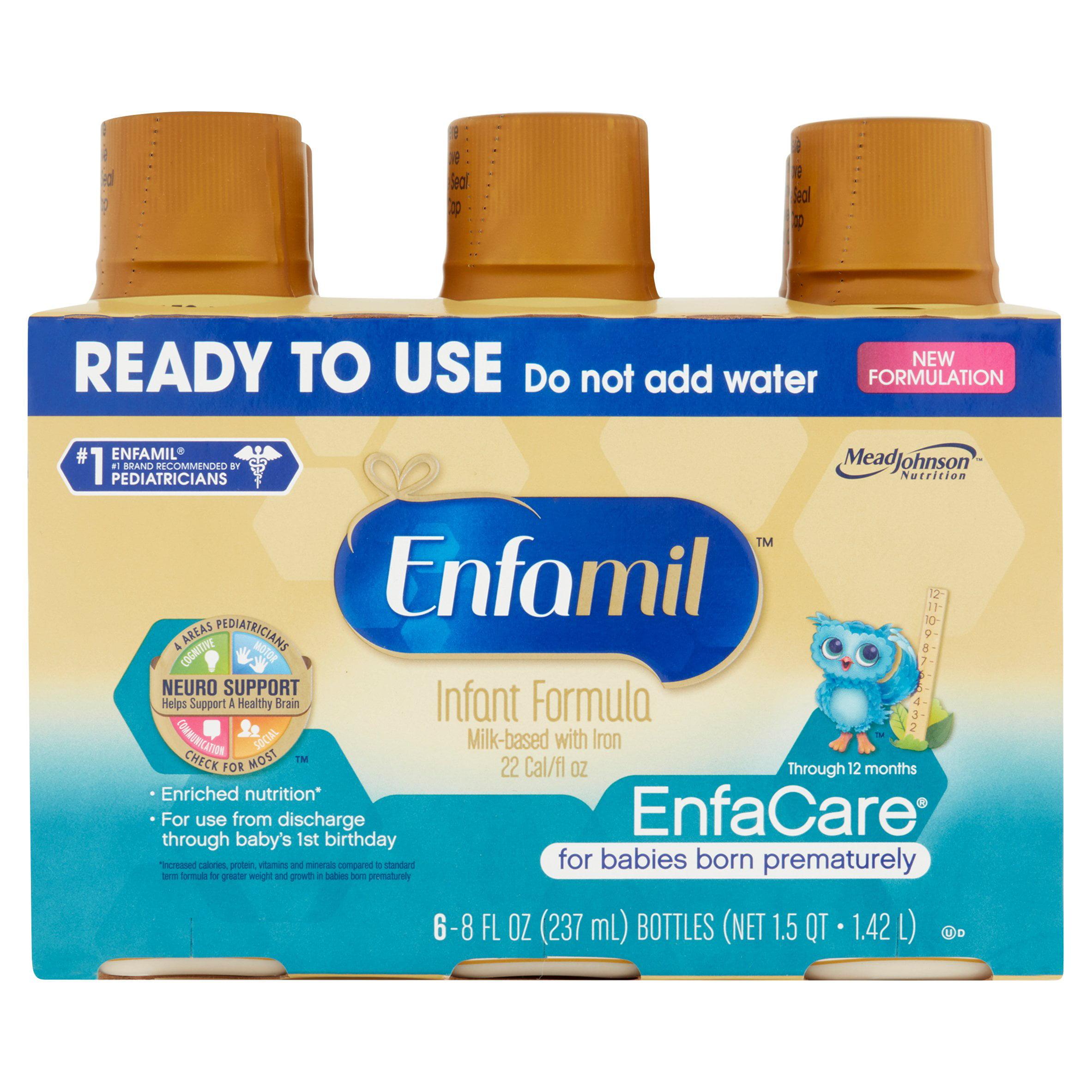 Enfamil EnfaCare Baby Formula Ready-to-Use (24 Pack) 8 fl. oz bottles