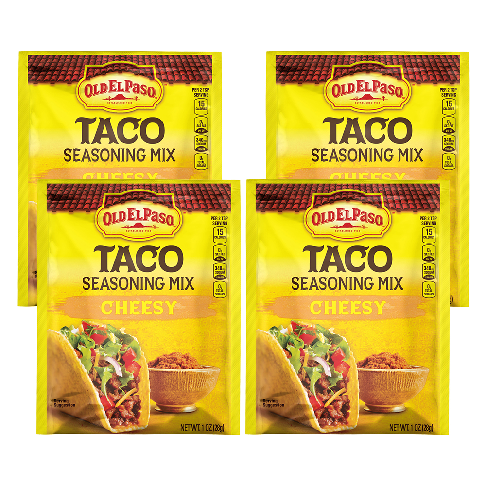 Old El Paso Cheesy Taco Seasoning Mix, 1 oz, 1.0 OZ (4 Pack)