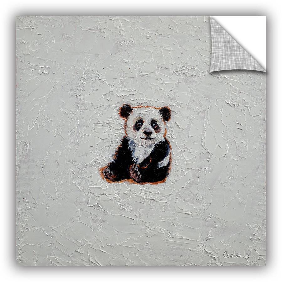 "ArtWall Michael Creese ""Little Panda"" ArtAppealz Removable Wall Art"