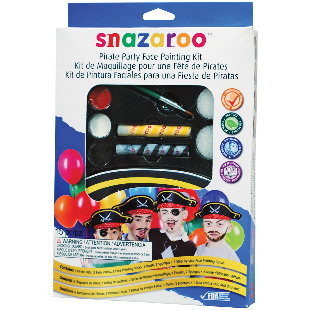 Reeves Snazaroo Face Painting Kit, Pirate