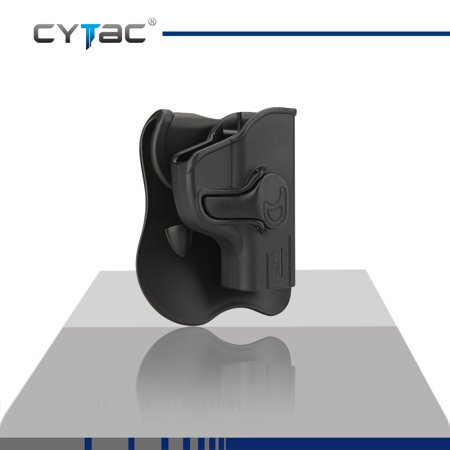 CYTAC RUGER / SCCY Paddle Holster with Trigger Release 360 degree Adjustable Cant, Polymer Holster Injection Molded for RUGER LC9 / LC380 / SCCY CPX-2 | OWB Carry, RH | 7 attachment