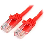 StarTech 30ft Red Snagless Cat5e UTP Patch Cable