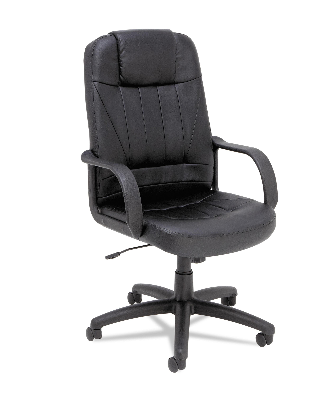 Alera Sparis Series Executive Leather High-Back Swivel Tilt Office Chair, Leather, Black by ALERA