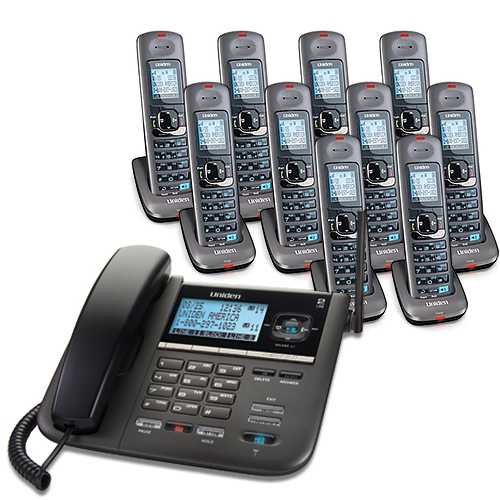 Uniden DECT4096-10 Corded Cordless 2-Line Phone and Blue Backlit LCD Display by Uniden