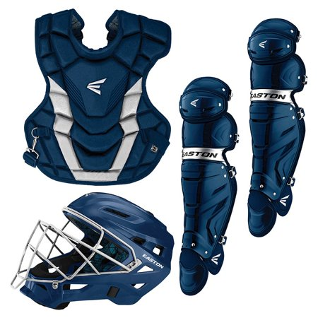 Easton A165429 Youth Gametime Navy / Silver 3-Piece Catchers Set