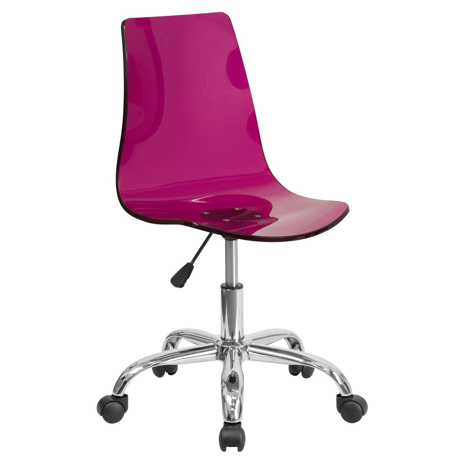 Flash Furniture Contemporary Transparent Acrylic Task Chair with Chrome Base