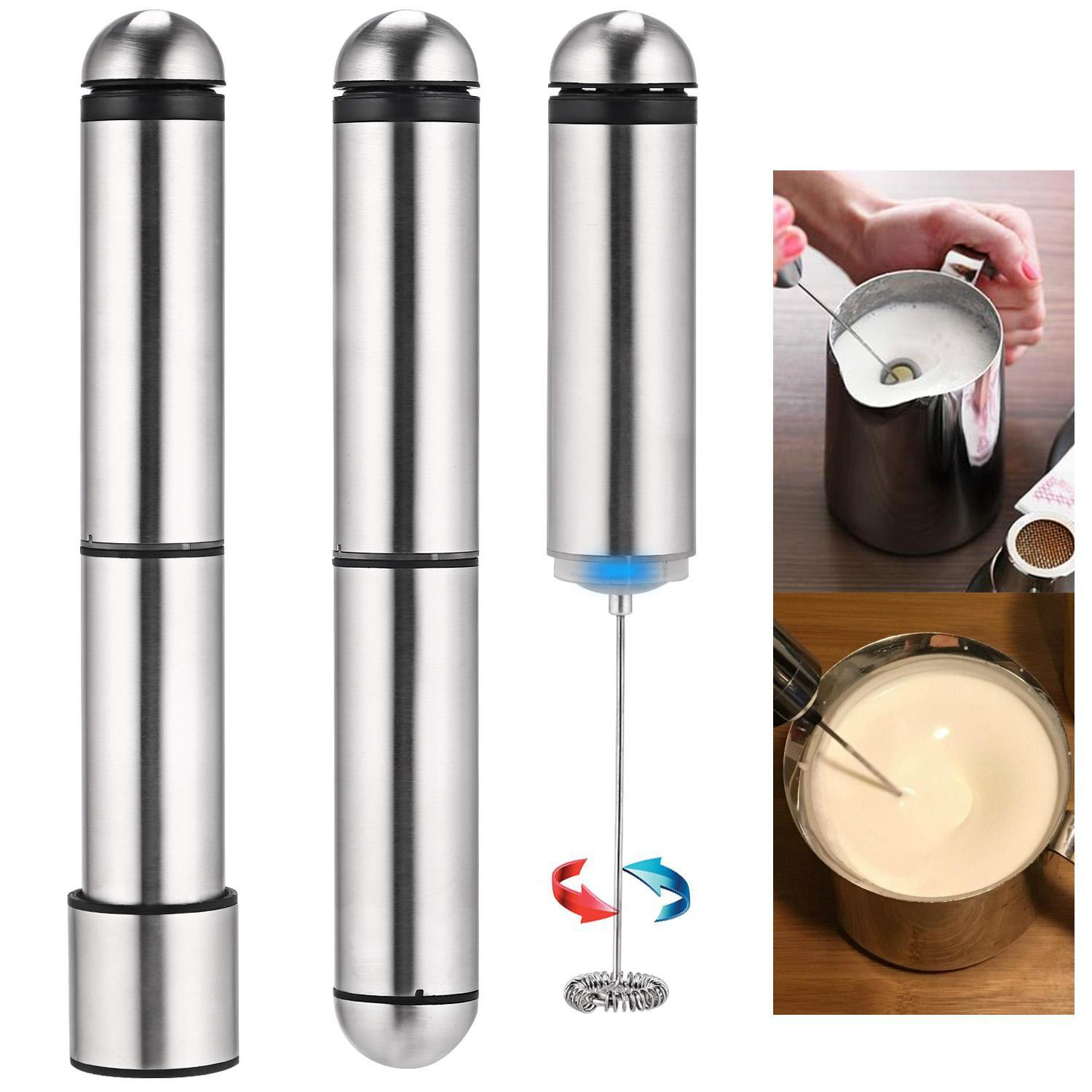 Clearance&Sales !!! Removable Stainless Steel Cover Milk Frother Kitchen Home Bar Coffee Tea Chocolate Milk... by