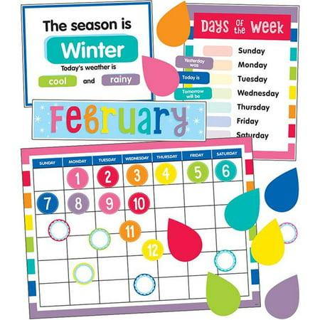 Carson Dellosa CD-110414BN Hello Sunshine Calendar Bulletin Board Set - Pack of 2 - Sun Bulletin