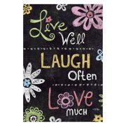 Toland Home Garden Live Laugh Love Chalkboard Double Sided Flag