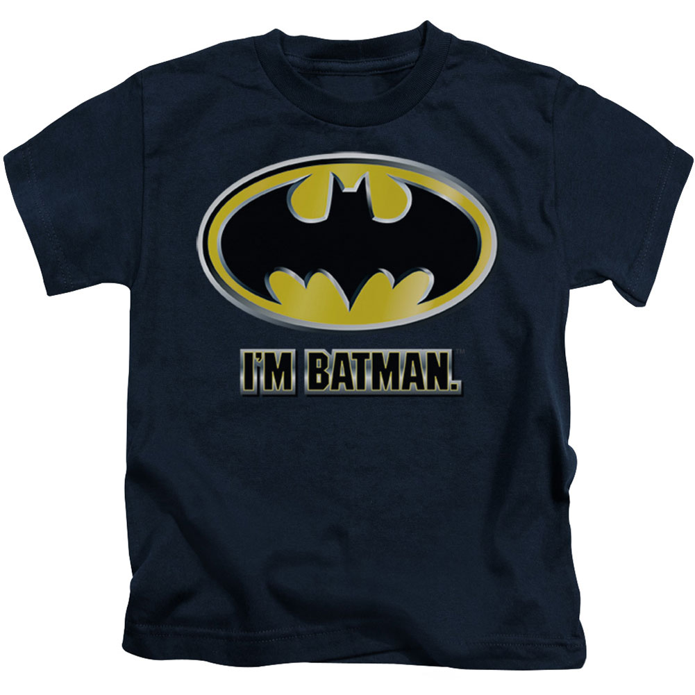 Batman Boys' I'm Batman Childrens T-shirt Navy by Trevco