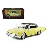 Arko 06201y 1962 Ford Thunderbird Yellow 1-32 Diecast Car Model