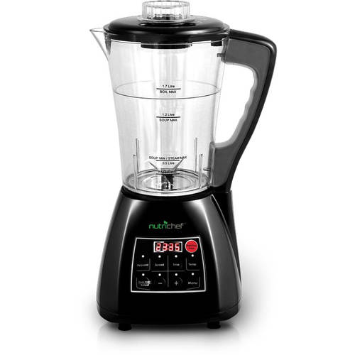 NutriChef 3-In-1 Digital Electronic Soup Cooker, Blender, Juice Drink Maker