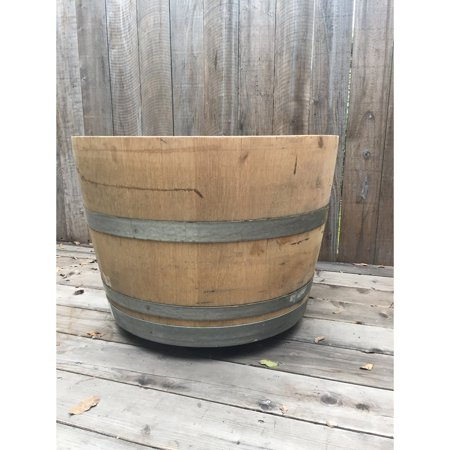 LadyBagsSF Wine Barrel Planter on Wheels