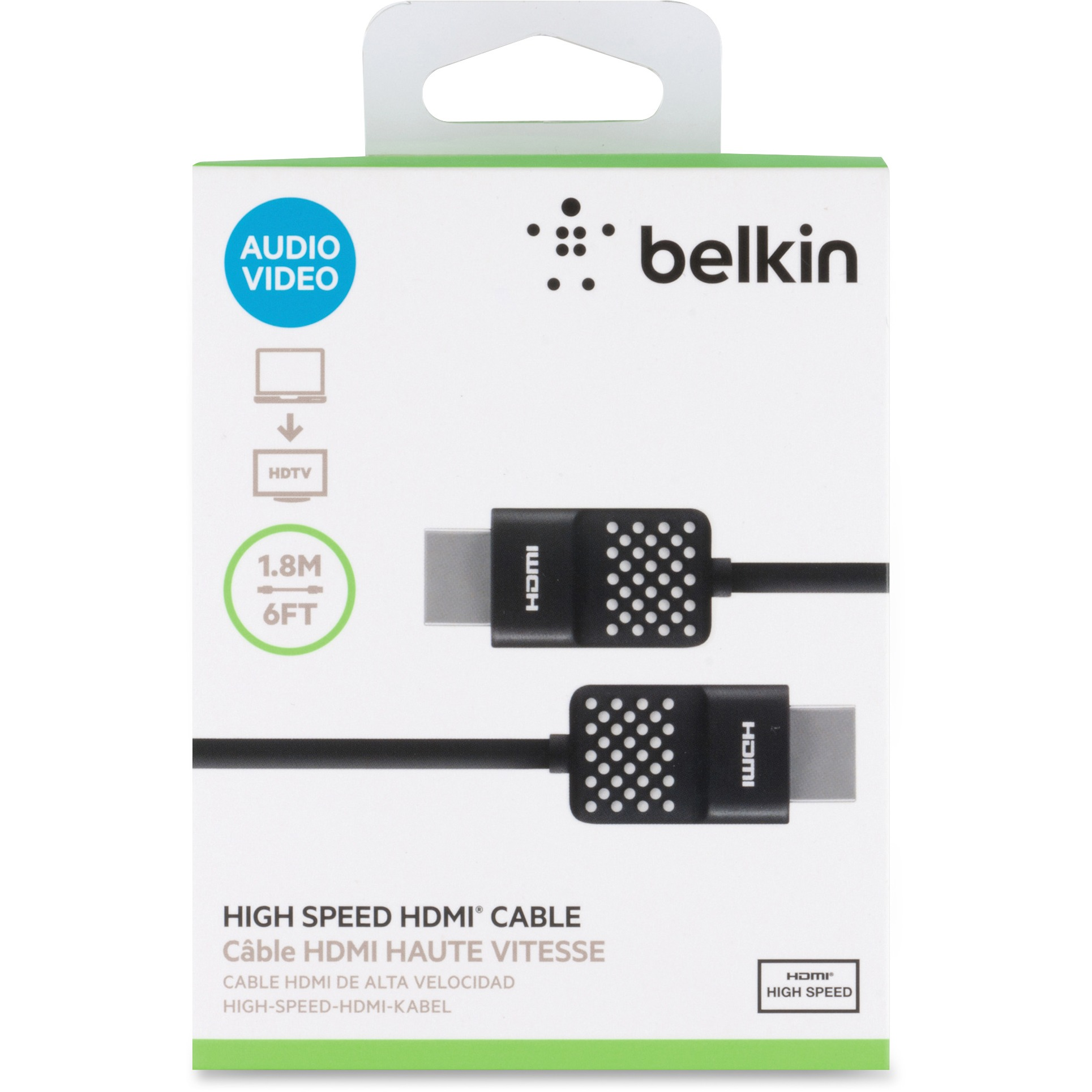 Belkin AV10090BT06 High-Speed HDMI Cable, 6'