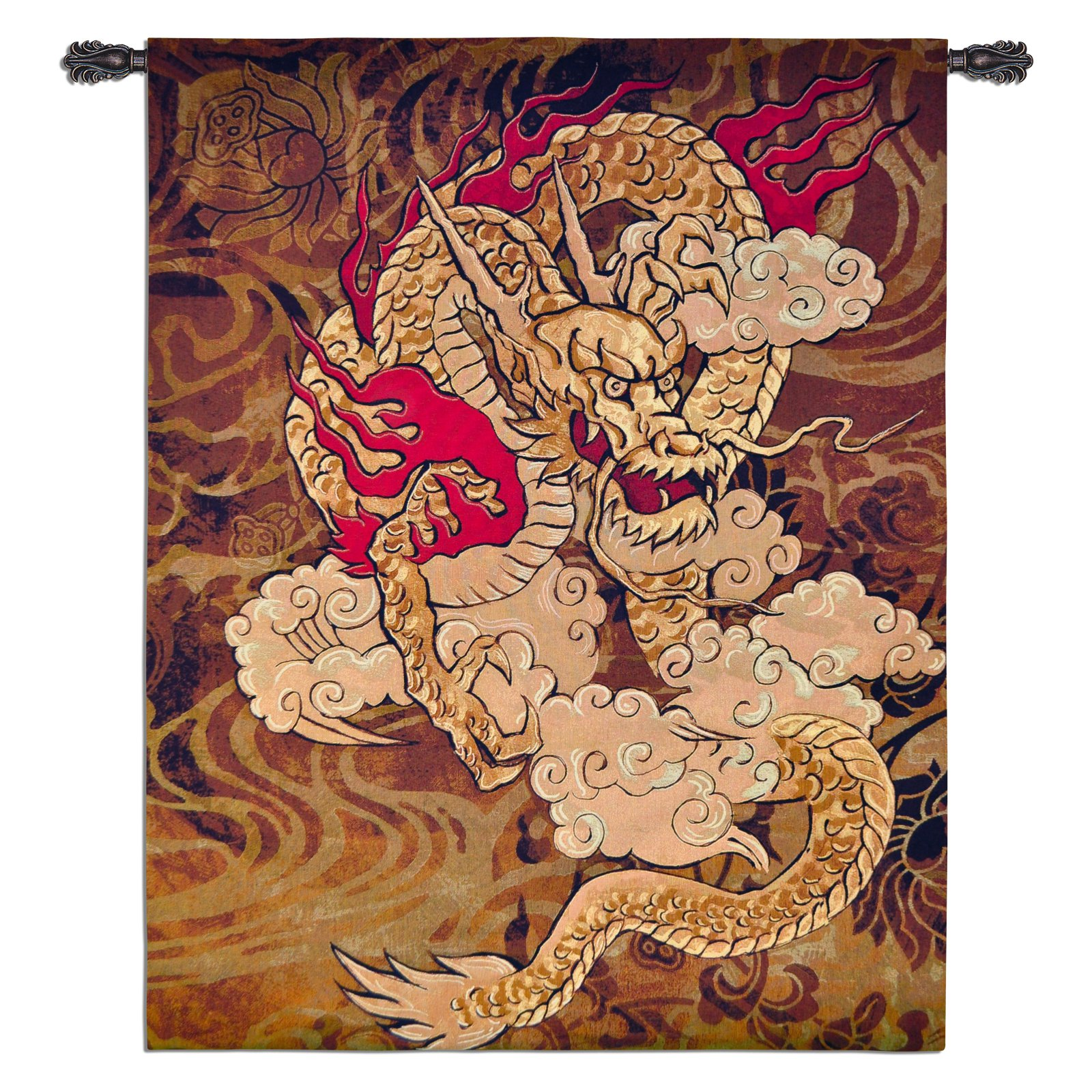 Golden Dragon Wall Tapestry