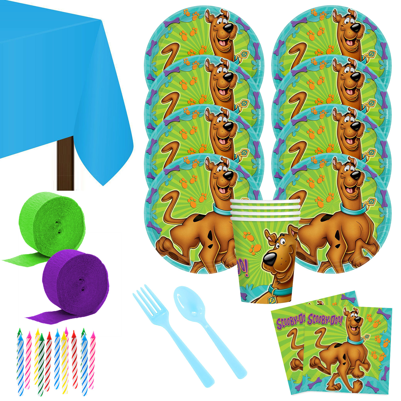 Scooby Doo Deluxe Kit (Serves 8) - Party Supplies