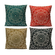 Decorative Throw Pillow Case Cushion Cover  18x18 inch Square Zipper Waist Pillowcase Pillow Protector Slip Cases Sham for Home Bedroom Couch Sofa Bed Patio Chair