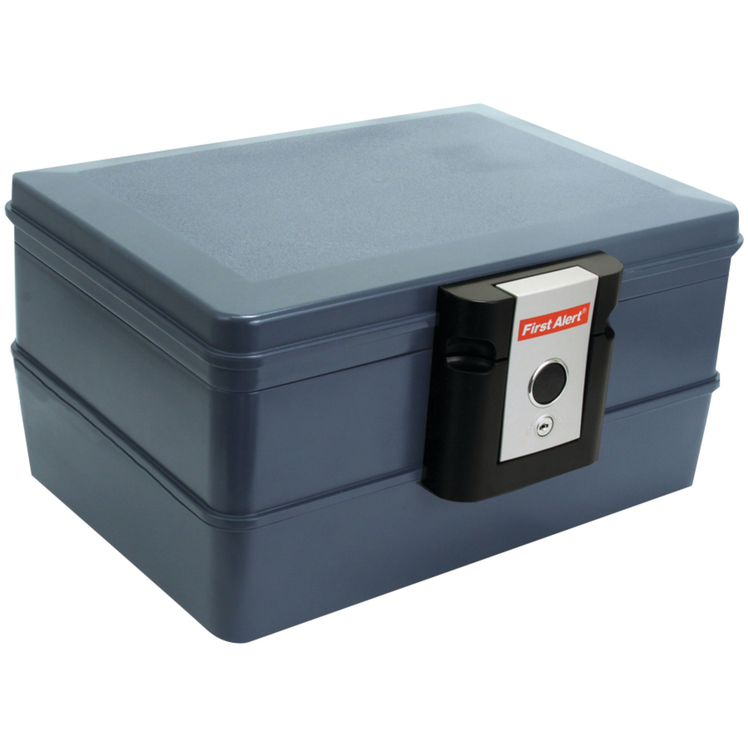 First Alert 0.39 cu. ft. Waterproof and Fire Resistant Chest with Key Lock, 2030F Gray by First Alert