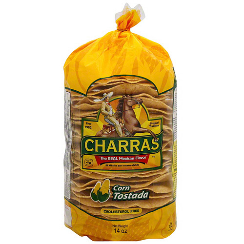 Charras Corn Tostada, 12.3 oz (Pack of 8)