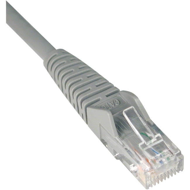 Tripp Lite 3ft Cat6 Gigabit Snagless Molded Patch Cable (RJ45 M/M) - Gray