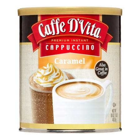 Instant Caramel - Caffe D'Vita Instant Cappuccino, Caramel, 16 Oz.