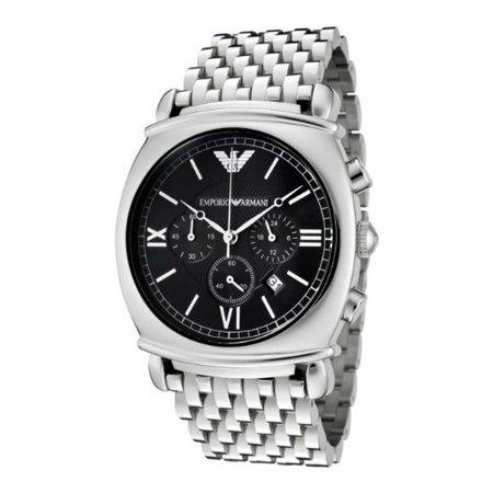Emporio Armani Men's AR0314 Chronograph Charcoal Grey Dial Stainless Steel - Charcoal Grey Dial