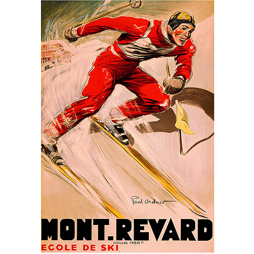 "Trademark Fine Art ""Mont Revard"" Canvas Art, 35x47"