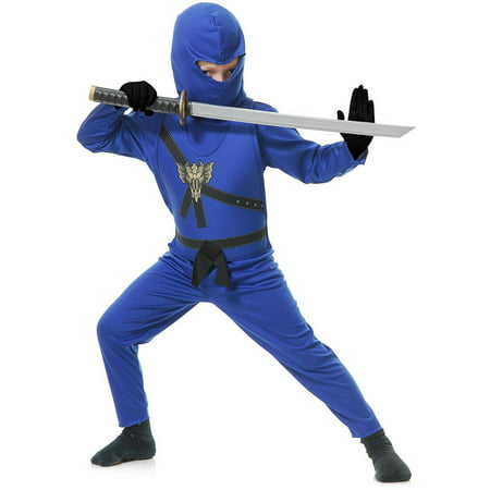Blue Ninja Child Halloween Costume](Belle's Blue Dress Halloween Costume)