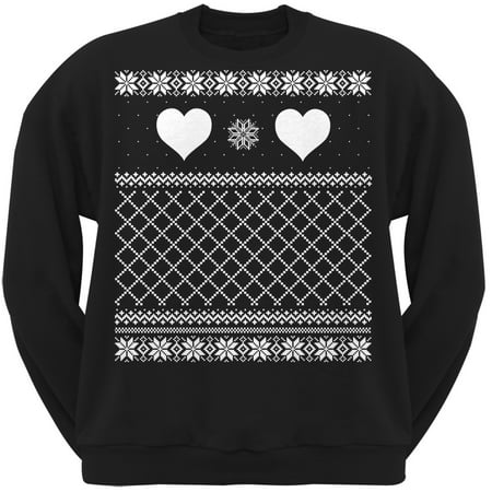 Tee S Plus Valentine S Day Heart Ugly Valentine Sweater Black