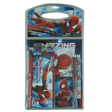Marvel Spider Man Stationery - Stationery - Marvel - Amazing Spiderman 2 11pc Value Pack in Bag w/Header