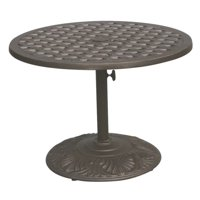 "Darlee Series 30 30"" Round Patio Bistro Table in Antique Bronze"