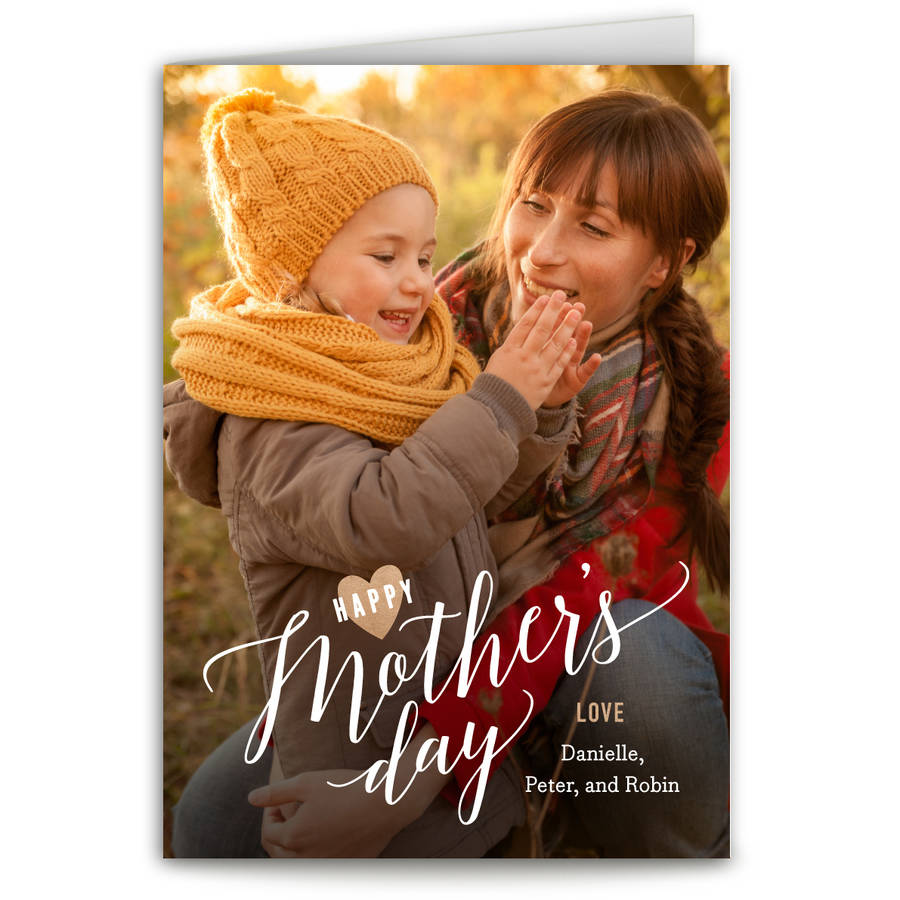 Mothers Day Script Mother's Day Greeting Card