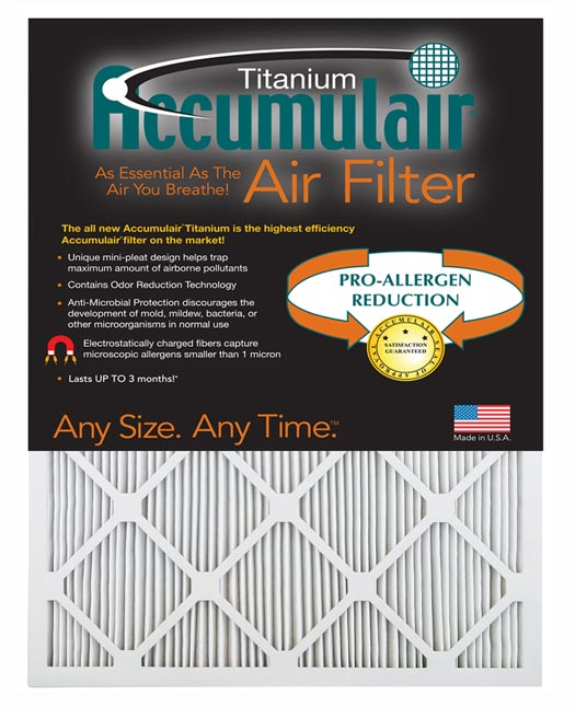 2 Pack 16x25x3 Carbon Odor Block Aftermarket Totaline Replacement Filter 15.75x24.25x3